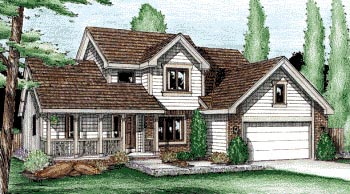 Country House Plan 99418 Elevation