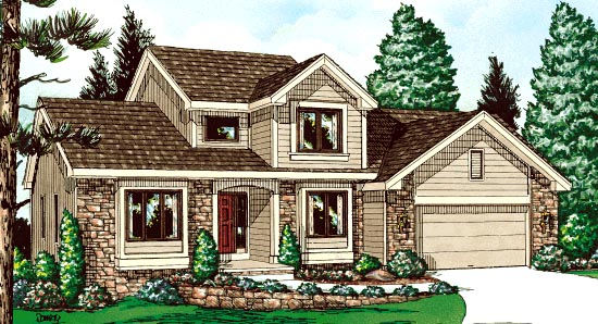 Bungalow Country House Plan 99422 Elevation