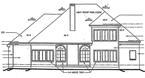 Victorian House Plan 99424 Rear Elevation