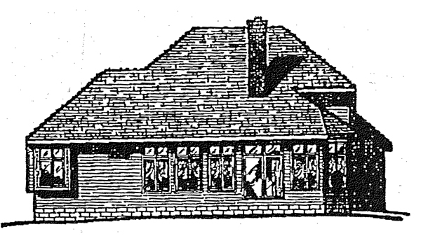 Country European House Plan 99433 Rear Elevation