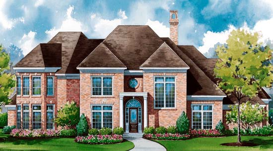 Colonial House Plan 99440 Elevation