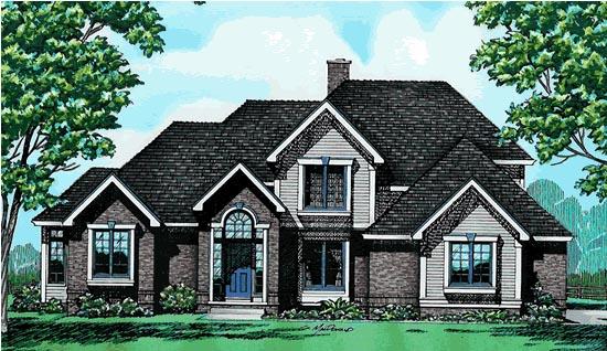 European Tudor House Plan 99449 Elevation