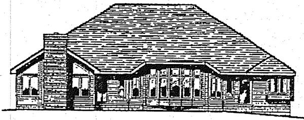 Bungalow European House Plan 99469 Rear Elevation