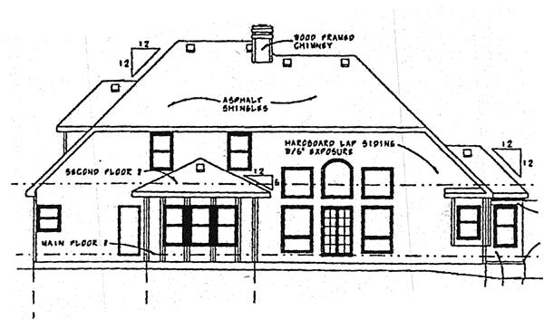 European Tudor House Plan 99470 Rear Elevation