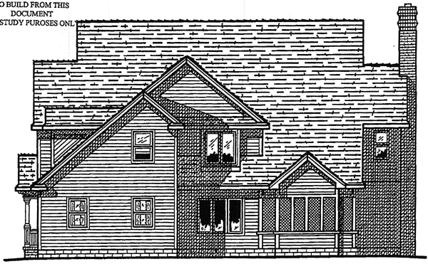 Colonial Southern House Plan 99485 Rear Elevation