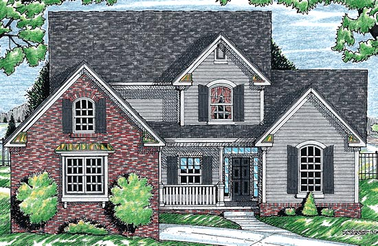 Country Farmhouse House Plan 99493 Elevation
