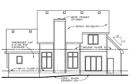 Country Farmhouse House Plan 99493 Rear Elevation