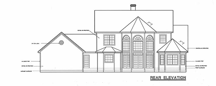 Country House Plan 99495 Rear Elevation