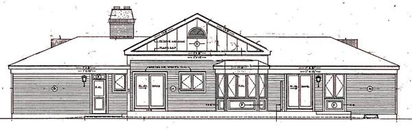 Ranch House Plan 99610 Rear Elevation