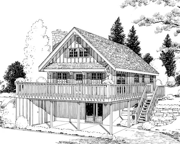 Small a Frame Cabin Plans