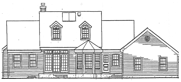 Country Farmhouse Southern Traditional House Plan 99641 Rear Elevation