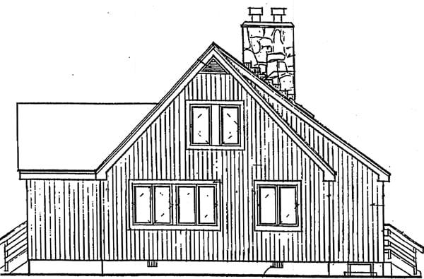Coastal Contemporary House Plan 99645 Rear Elevation