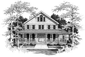 Country House Plan 99649 with 4 Beds, 4 Baths, 2 Car Garage Elevation