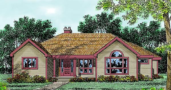 Contemporary Farmhouse House Plan 99654 Elevation