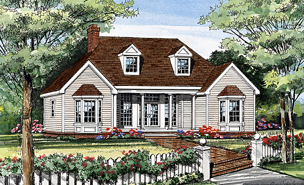 Country European House Plan 99673 Elevation