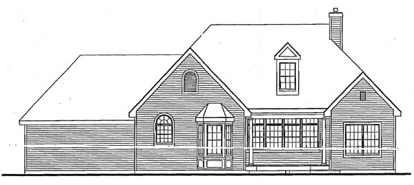 Country European House Plan 99673 Rear Elevation