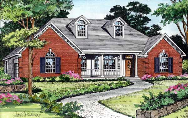 Country European House Plan 99679 Elevation