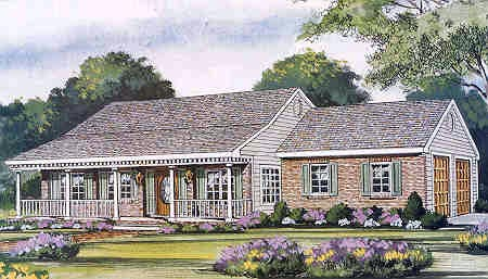 Country Farmhouse Traditional House Plan 99686 Elevation