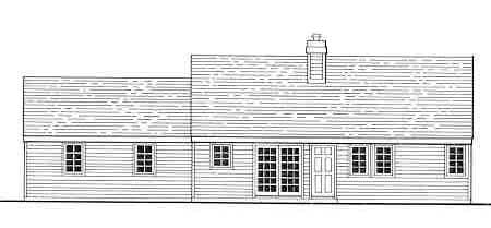 Country House Plan 99690 Rear Elevation