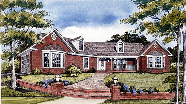 Ranch Traditional House Plan 99694 Elevation