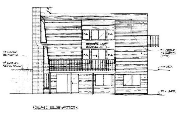 Contemporary Retro House Plan 99709 Rear Elevation
