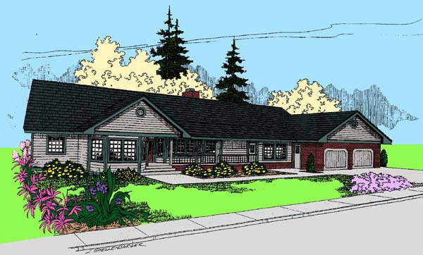 Ranch House Plan 99723 Elevation