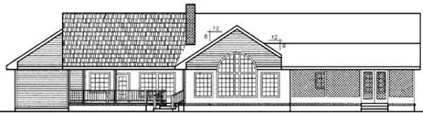 Ranch House Plan 99723 Rear Elevation