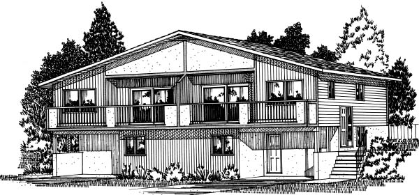 Traditional Multi-Family Plan 99904 Elevation