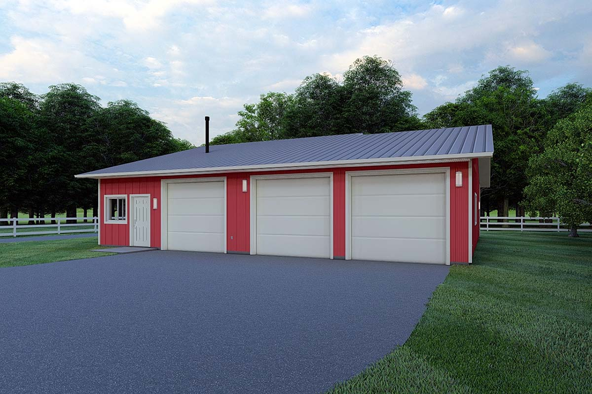 Garage Plan 99933 Elevation