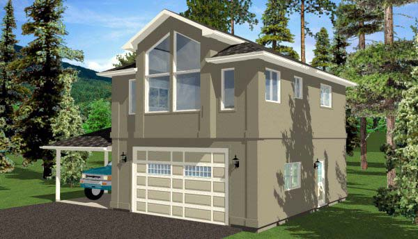 3 Car Garage Apartment Plan 99942 with 1 Beds, 1 Baths Picture 2