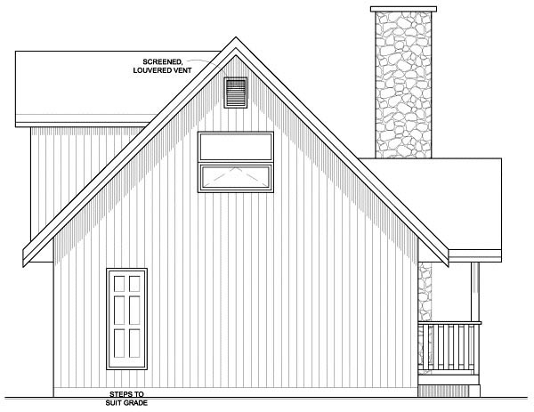A-Frame House Plan 99946 Rear Elevation