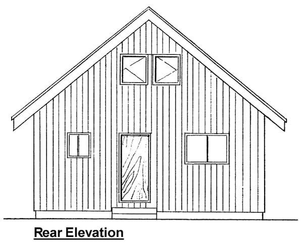 Cabin Contemporary House Plan 99953 Rear Elevation