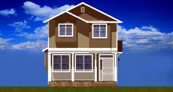 Multi-Family Plan 99955 Rear Elevation