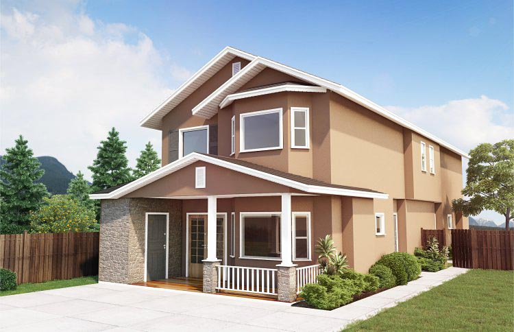 Multi-Family Plan 99958 Elevation