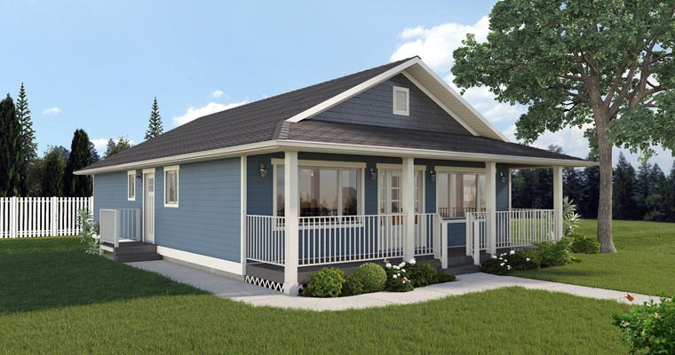 Country, Ranch House Plan 99960 with 3 Beds, 2 Baths Picture 2