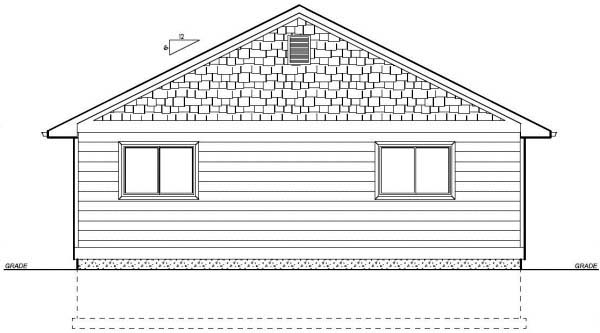 Ranch House Plan 99960 Rear Elevation