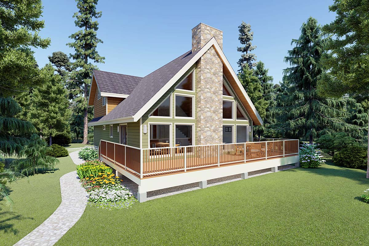 A-Frame House Plan 99962 Elevation
