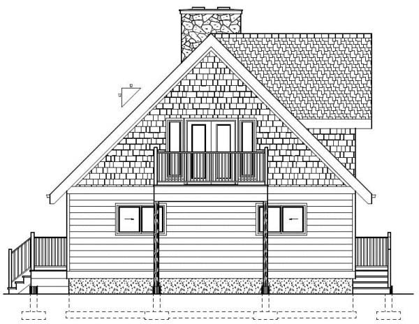 A-Frame House Plan 99962 Rear Elevation