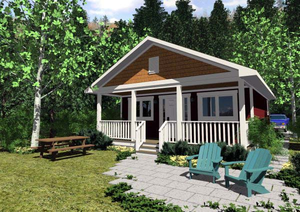 Elevation of Cottage   House Plan 99971