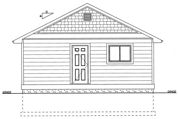 Rear Elevation of Cottage   House Plan 99971