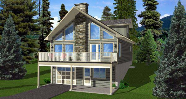 A-Frame House Plan 99975 Elevation