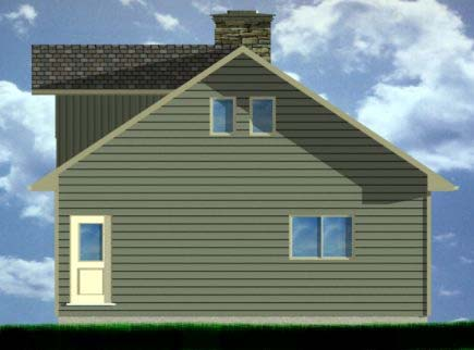 A-Frame House Plan 99975 Rear Elevation