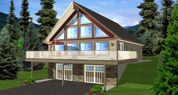 House plan 99976 at for A frame house plans with basement