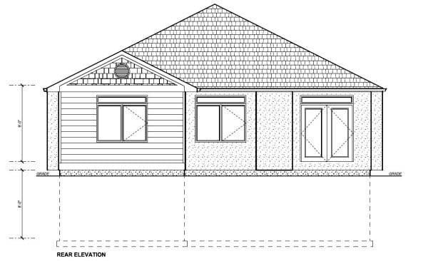 Craftsman House Plan 99978 Rear Elevation