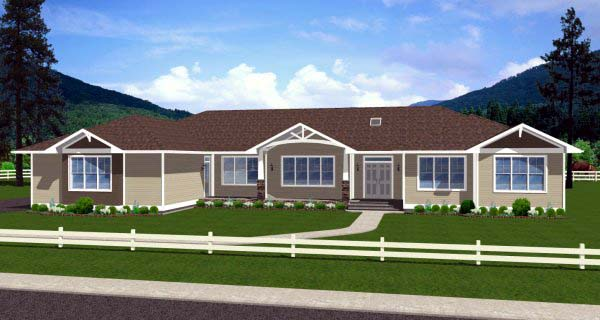 Ranch House Plan 99986 Elevation