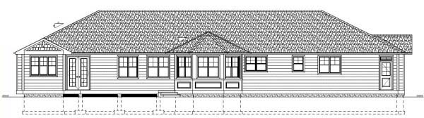 Ranch House Plan 99986 Rear Elevation