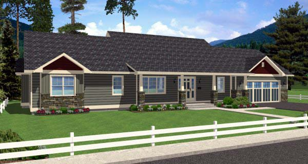 Country Ranch House Plan 99989 Elevation