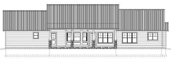 Country Ranch House Plan 99989 Rear Elevation