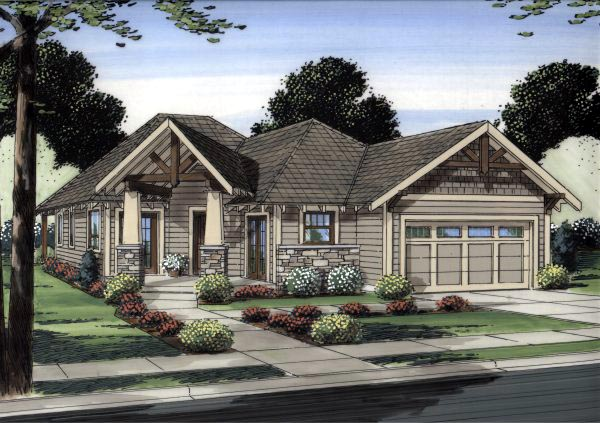 Traditional House Plan 99991 Elevation