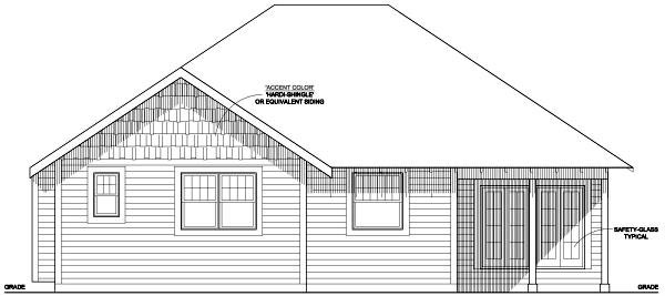 Traditional House Plan 99991 Rear Elevation